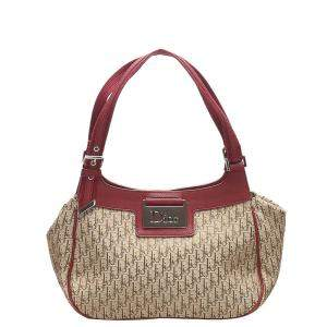 Dior Brown/Beige Oblique Canvas Shoulder Bag