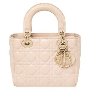 Dior Pink Leather Small My Lady Dior Tote