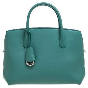 حقيبة يد ديور كبيرة بار مفتوح جلد و جلد ثعبان بيج و أخضر