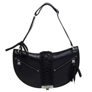 Dior Black Leather Admit It Hobo
