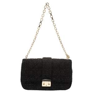 Dior Black Tweed Medium Miss Dior Flap Bag
