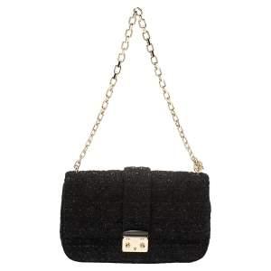 Dior Black Tweed Medium Miss Dior Flap Bag