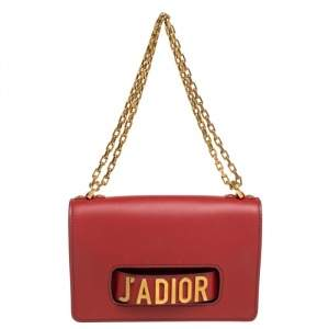 Dior Maroon Leather J'adior Flap Shoulder Bag