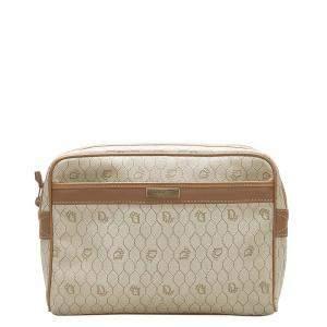 Dior Beige/Brown Honeycomb canvas Clutch