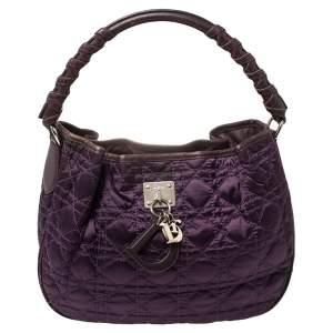 Dior Purple Cannage Satin Small Charming Hobo