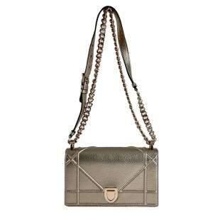 Christian Dior Metallic Brown Diorama Small Shoulder Bag