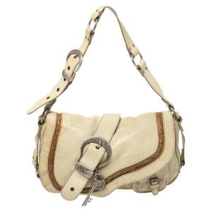 Dior Pale Green Gaucho Leather Large Double Saddle Shoulder Bag