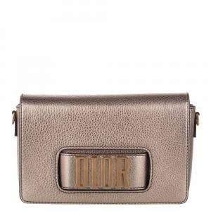 Dior Metallic Brown Leather J'aDior Flap Bag