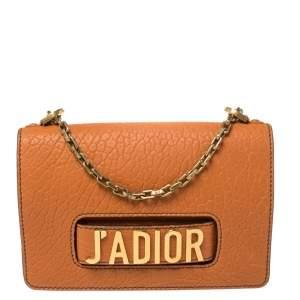 Dior Orange Leather J'adior Flap Shoulder Bag