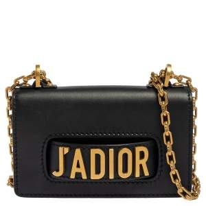 Dior Black Leather J'Adior Flap Crossbody Bag