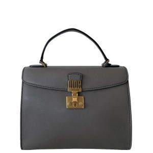 Christian Dior Grey leather Dioraddict Top Handle Shoulder Bag