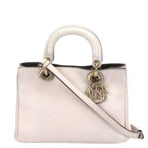 Dior Pink Leather Diorissimo Satchel Bag