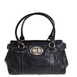 Dior Black Leather Satchel