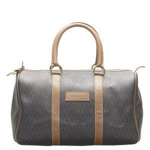 Dior Brown Canvas Honeycomb Travel Bag
