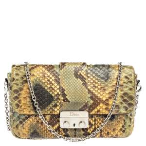 Dior Multicolor Python Chain Miss Dior Flap Crossbody Bag