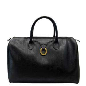 Dior Black Canvas Vintage Diorissimo Duffel Bag