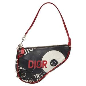 Dior Multicolor Coated Fabric Hardcore Saddle Bag
