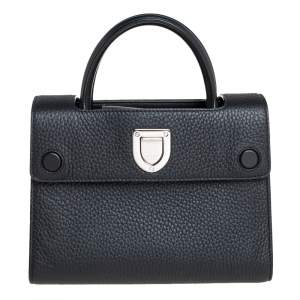 Dior Black Pebbled Leather Mini Diorever Tote