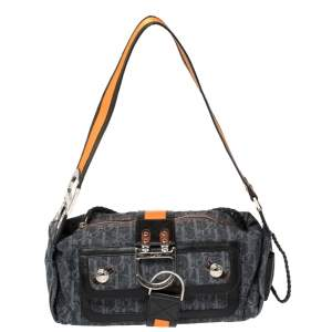 Dior Tri Color Oblique Denim Flight Shoulder Bag