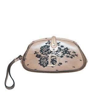 Dior Brown Leather Vintage Clutch Bag
