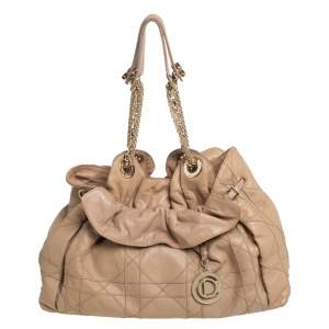 Dior Beige Cannage Leather Le Trente Shoulder Bag
