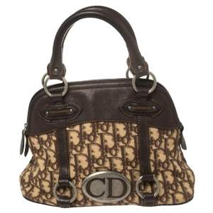 Dior Beige/Brown Diorissimo Canvas and Leather Satchel