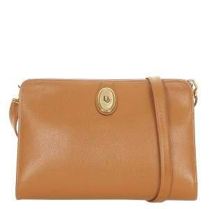 Dior Brown Leather Shoulder Bag