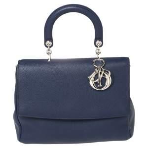 Dior Blue Leather Medium Be Dior Flap Bag