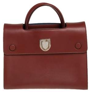 Dior Brown Smooth Leather Medium Diorever Tote