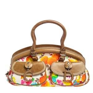 حقيبة  ساتشل ديور ديتكتيف جلد وقماش زهري متعدد الألوان