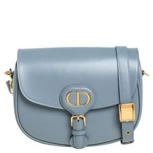 Dior Dark Grey Leather Medium Bobby Shoulder Bag