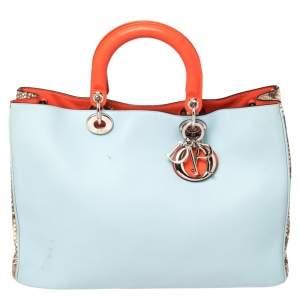 Dior Multicolor Leather and Python Large Diorissimo Shopper Tote