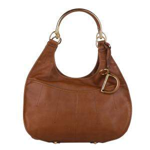 Dior Brown/Light Brown Leather  61 Tote Bag