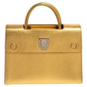 Dior Metallic Gold Leather Medium Diorever Tote