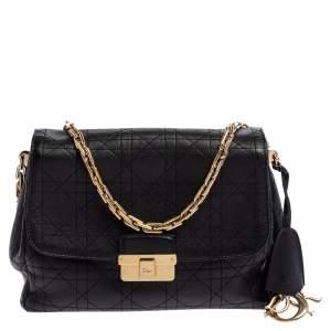 Dior Black Cannage Leather Diorling Shoulder Bag