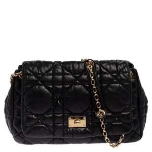 Dior Black Cannage Leather Milly La Forêt Shoulder Bag