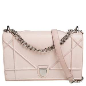 Dior Beige Leather Medium Diorama Flap Shoulder Bag