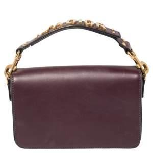 Dior Dark Purple Leather J'adior Flap Clutch