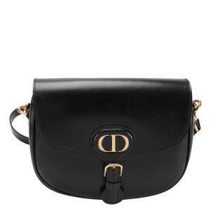 Dior Black Box Calfskin Leather Medium Bobby Bag