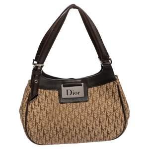 Dior Brown Oblique Canvas And Leather Shoulder Bag
