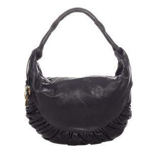 Dior Black Leather Gypsy Hobo Bag