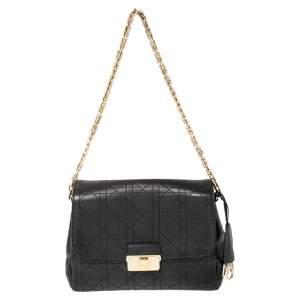 Dior Black Cannage Leather Medium Diorling Shoulder Bag