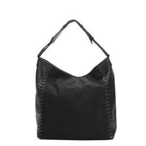 Dior Black Nylon Leather Oblique Ethnic Nylon Shoulder Bag