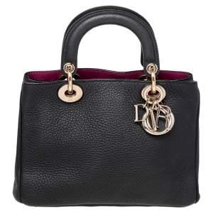Dior Black Leather Diorissimo Tote