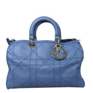 Dior Blue Leather Granville Tote Bag