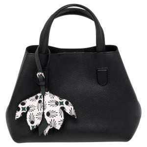 Dior Black Grained Leather Small Blossom Tote