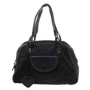Dior Black Diorissimo Canvas And Leather Ethnique Satchel