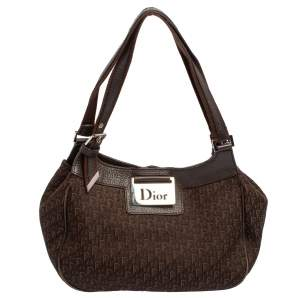Dior Brown Oblique Canvas and Leather Hobo
