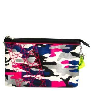 Dior Multicolor Canvas Leather  Anselm Reyle Clutch Bag
