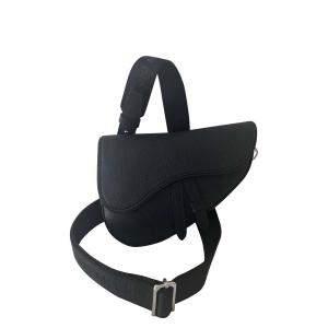Dior Black Leather Mini Saddle Shoulder Bag